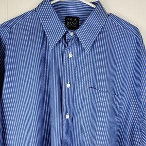 Jos.A.Bank Blue/ White Traveler's Button up 17 1/2